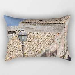 "Old Abandoned Farmhouse - Sicily - ""Vacancy"" zine  Rectangular Pillow"