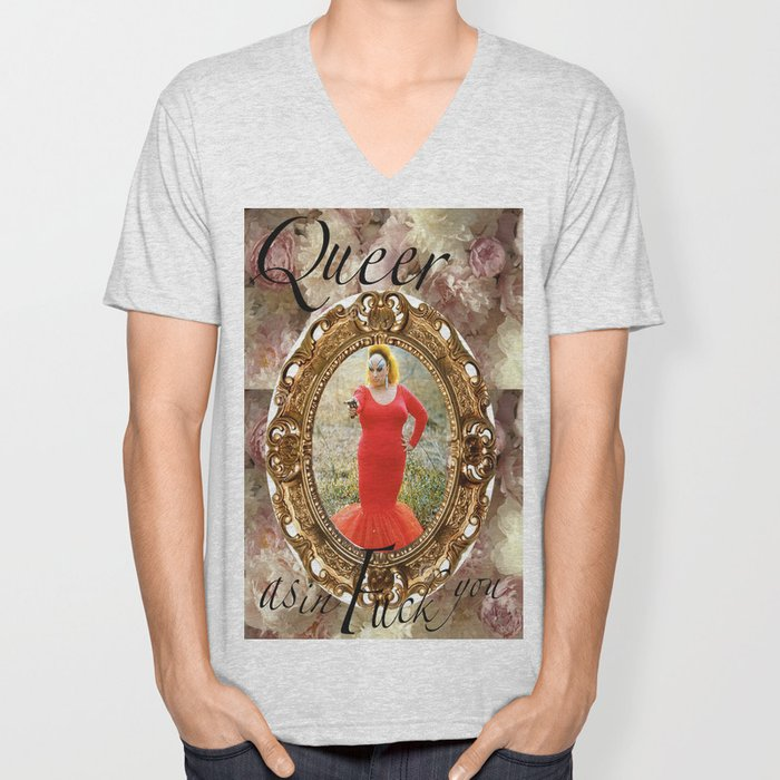 Queer as in Fuck You - Divine Unisex V-Neck