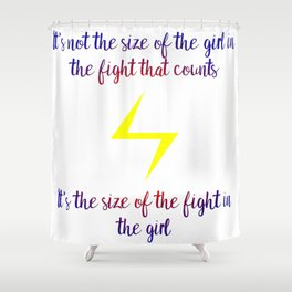 fight in the girl Shower Curtain