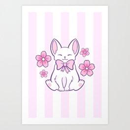 Sakura Cat 02 Art Print
