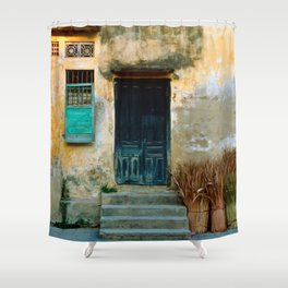 VIETNAMESE FACADE of HOI AN Shower Curtain