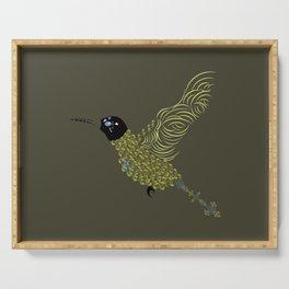 Abstract Hummingbird Serving Tray