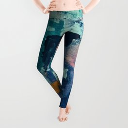 The Peace of Wild Things: a vibrant abstract piece in a variety of colors by Alyssa Hamilton Art Leggings