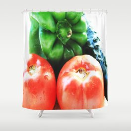 Colors of vegetables Shower Curtain