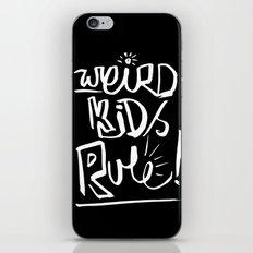 Weird Kids Rule iPhone & iPod Skin