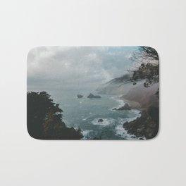 Faded ocean life Bath Mat