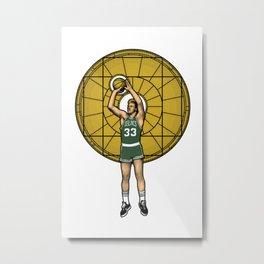 Basketball Jesus Metal Print