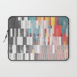 Vibrant Graffity on Black and White Geometry Laptop Sleeve