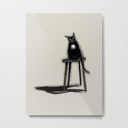Coraline The Cat Metal Print
