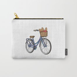 Womens bike with Basket & Bread Carry-All Pouch