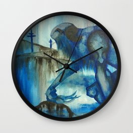 The Blue Giant Wall Clock