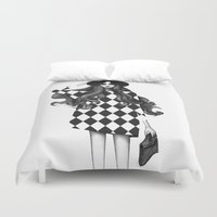 fashion illustration Duvet Covers featuring Fashion Illustration by Sibling & Co.