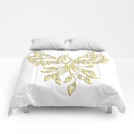 Golden Phoenix Rising Comforters