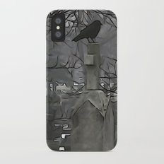 Gothic Scribbles Slim Case iPhone X