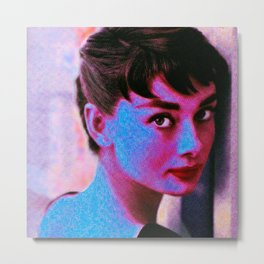 HOLLY (Audrey Hepburn1) Metal Print