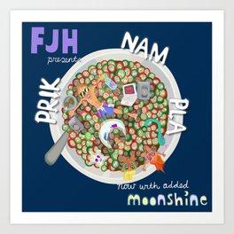 Prik Nam Pla/ Moonshine Art Print