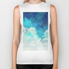 Absract Watercolor Clouds Biker Tank