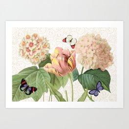 tulips Dalia Art Print