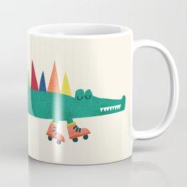 Crocodile on Roller Skates Kaffeebecher