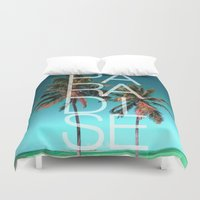paradise Duvet Covers featuring PARADISE by Chrisb Marquez