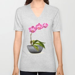Watercolor Orchid Unisex V-Neck