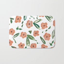 Live Simply Floral Pattern Bath Mat