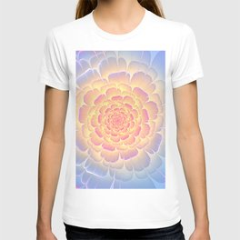Romantic violet and yellow flower T-shirt