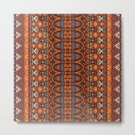 Boho Geometric Pattern 11 Metal Print