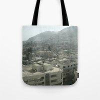 palestine Tote Bags featuring Nablus Palestine by Sanchez Grande