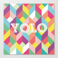 YOLO Geometric Canvas Print