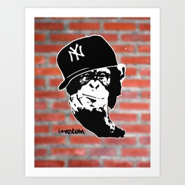 I'nstein Monkey Art Print