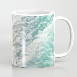 Soft Emerald Beige Ocean Dream Waves #1 #water #decor #art #society6 Coffee Mug
