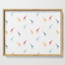 Giraffe Pattern Serving Tray