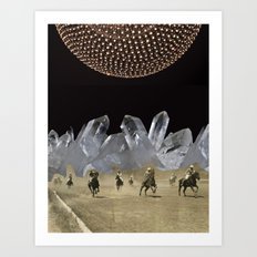 Beneath a Thousand Moons - (Triptych) by Zabu Stewart Art Print