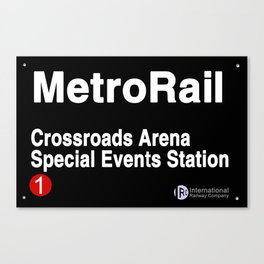 Crossroads Arena Special Events Station Canvas Print
