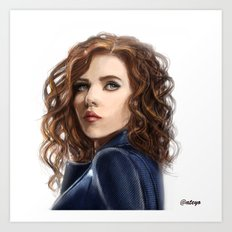 Black Widow....Avengers....Marvel.... Art Print