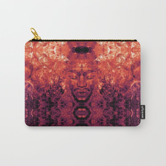 Brother Meditation - red purple Carry-All Pouch