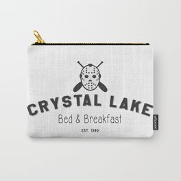 Crystal Lake Bed and Breakfast, Former Camp Crystal, Est.1980, Design for Wall Art, Posters, Tshirts, Men, Women, Kids Carry-All Pouch
