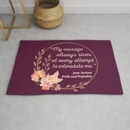 Pride and Prejudice Quote I - Cute Style Rug