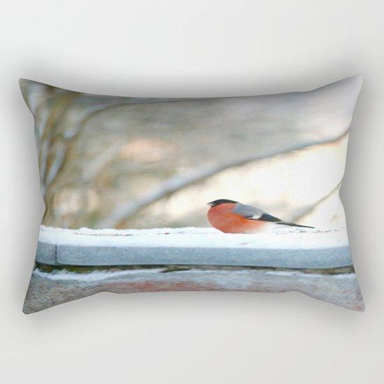 Red Plumage   Rectangular Pillow