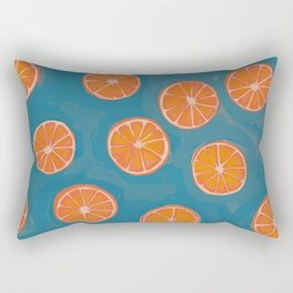 hand-painted california orange slices Rectangular Pillow