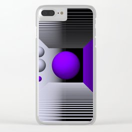 3D-geometry -3- Clear iPhone Case