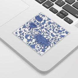 Chinoiserie Vines in Delft Blue + White Sticker