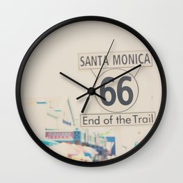 the end of route 66 ... Wall Clock