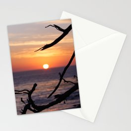 Sunset by the Lonely Cypress. Stationery Cards