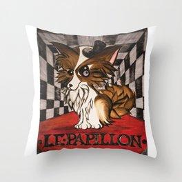 LE PAPILLON IN COLOR Throw Pillow