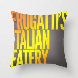 Frugatti's shirt Throw Pillow