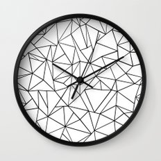 Abstract Outline Black on White Wall Clock