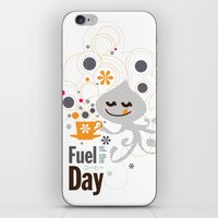 pocket fuel iPhone & iPod Skins featuring Fuel of  the day by inkdesigner