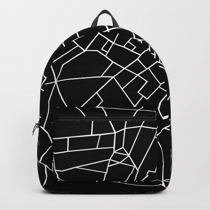 London Road Blocks Black Backpack